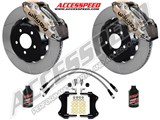 "Wilwood AERO6 14"" Front Big Brake Kit, Nickel, Slotted, Brake Lines, Fluid 2015-2017 Ford Mustang /"