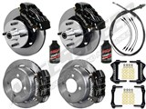 "Wilwood Dynalite Front & Dynapro Rear 11"" Big Brake Kit, Black, Lines, Fluid 64-65 Mustang 6-Cyl /"