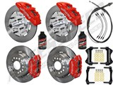 "Wilwood Dynapro Front & Rear 12"" Brakes, Red Calipers, Lines, Fluid, 2.66"" O/S, 1970-73 Mustang /"