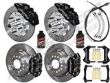 "Wilwood Dynapro Front & Rear 12"" Brakes, Black Calipers, Lines, Fluid, 2.66"" O/S, 1970-73 Mustang /"