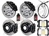 "Wilwood Dynapro Front & Rear 12"" Brakes, Black, Drilled, Lines, Fluid, 2.66"" O/S, 1970-73 Mustang /"