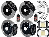 "Wilwood AERO6 14"" Front & 13"" DP Rear Brakes, Black, Slotted, Brake Lines, Fluid 2003-2009 350Z/G35 / Wilwood 2003-2009 350Z/G35 Big Brake Combo"