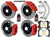"Wilwood AERO6 14"" Front & 13"" DP Rear Brakes, Red, Slotted, Brake Lines, Fluid 2003-2009 350Z/G35 / Wilwood 2003-2009 350Z/G35 Big Brake Combo"