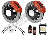 "Wilwood Superlite 6R 14"" Front Big Brake Kit, Red, Drilled, Lines & Fluid 2005-2015 Tacoma 6-Lug /"