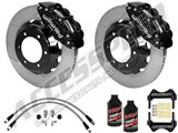 "Wilwood Superlite 6R 13"" Front Big Brake Kit, Black, Slotted, Lines & Fluid 2005-2015 Tacoma 6-Lug /"