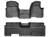 WeatherTech 442951-441792 Black Front & Rear FloorLiner Floor Mats 2011 Ford F-150 SuperCab / WeatherTech 442951-441792 Front & Rear FloorLiner