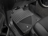 WeatherTech WTFB239000 Front Black Rubber Floor Mats 2009-2014 Ford F-150 Regular Cab 2-Post / WeatherTech WTFB239000 Front Rubber Floor Mats