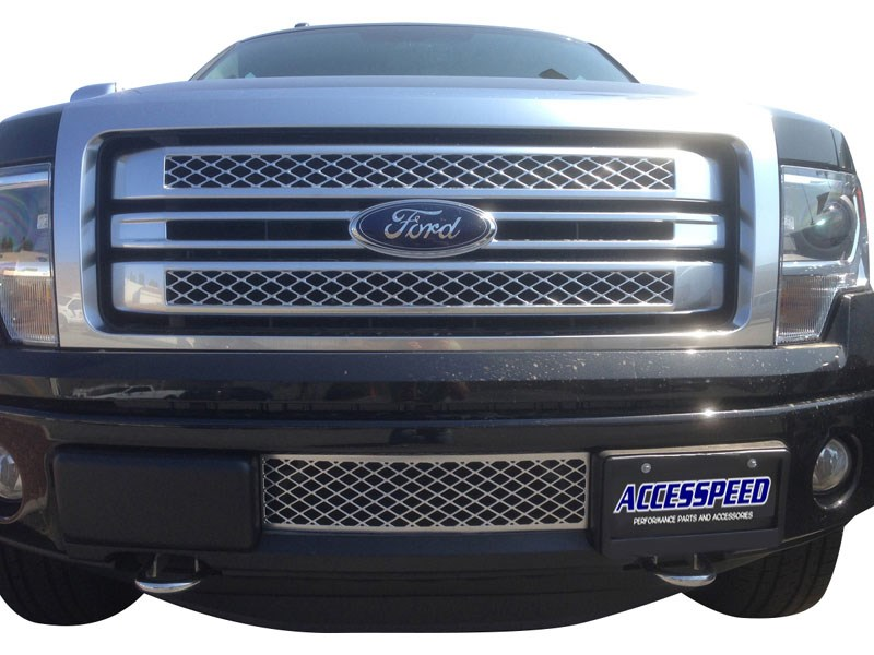 2011 2012 2013 2014 ford f150 platinum chrome lower bumper grille 69