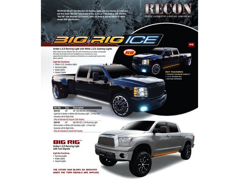 Recon26414x 62 Quot Big Rig Ice Amber Lights W White